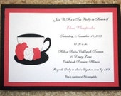 Tea Party with Roses Invitation