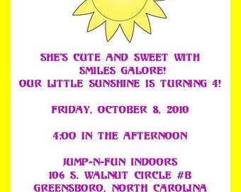 Bright Sunshine Invitation