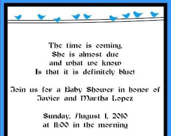 Blue Birds on a Vine Invitations