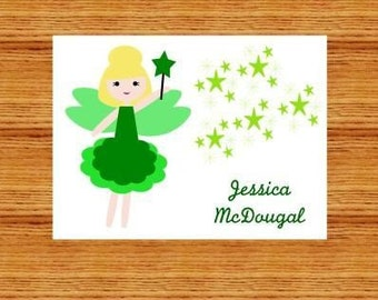 Tinkerbell Inspired Personalized Stationery (set of 10 folded notes)