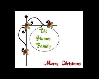 REDUCED Merry Christmas Post Personalized Stationery (set of 10 folded cards)