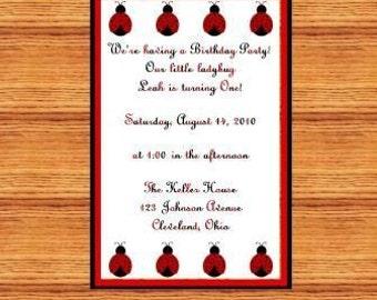 Adorable Ladybug Invitations
