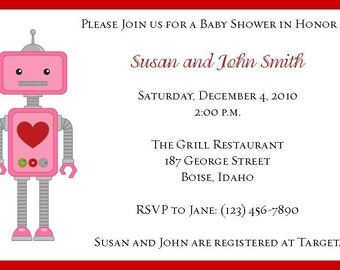 Robot with Heart Invitation