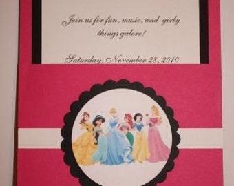 Disney Princess Pocket Invitations