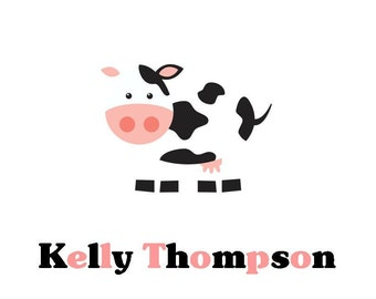 Cow Personalized Stationery (Set of 10 folded notes)