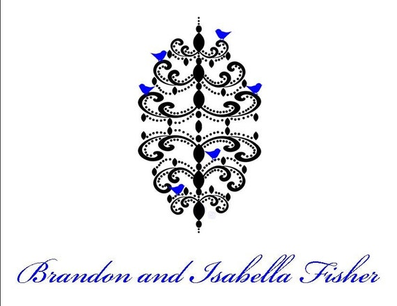 Beautiful Chandelier with Birds Personalized Stationery (set of 10 folded notes)