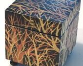 Enchanted Forest Keepsake Box Handpainted Wood