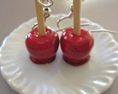Food Jewelry - Candied Apple Earrings
