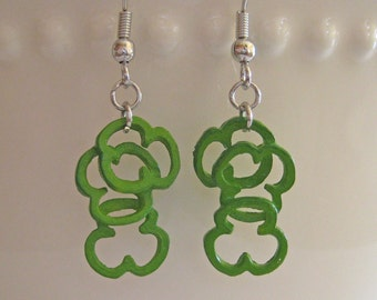 Food Jewelry - Sweet Bell Pepper Earrings