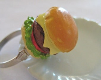 Cheeseburger Ring - Food Jewelry