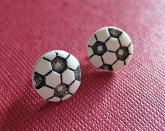 Soccer Ball Earrings - Sports Jewelry - Tween jewelry