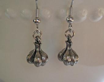 Food Jewelry - Garlic Bulb Earrings