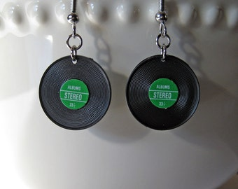 Vinyl Record Earrings, Album Jewelry, Music Jewelry, Music Teacher Gift