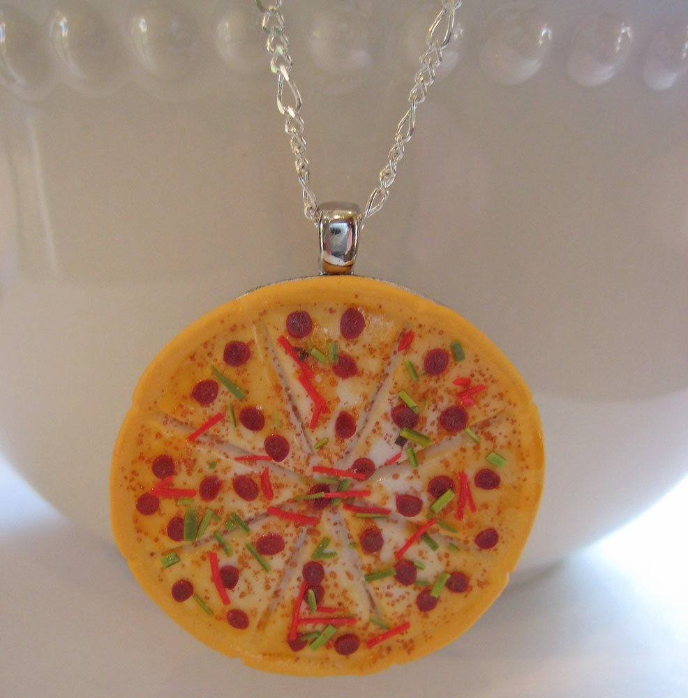pizza necklace food jewelry food necklace pizza jewelry