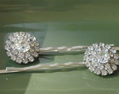 RESERVED for MOMISKA,Vintage Rhinestone Bridal Hairpins