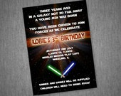 Star Wars Invitation - With or Without Photo