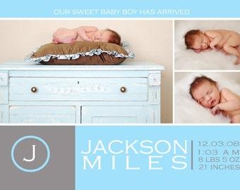 Custom Photo Birth Announcement -