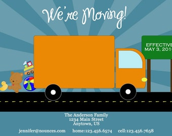 Moving Truck Moving Announcement