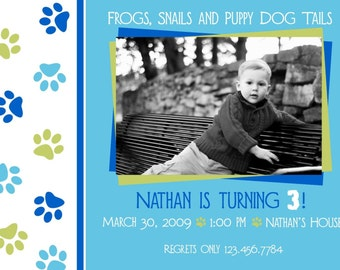 Puppy Birthday Invite - Perfect for your little boy