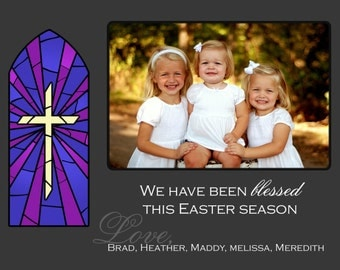Stained Glass Easter Photo Card