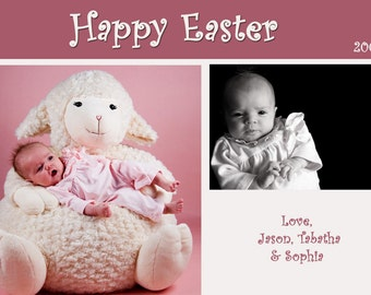 Simple Modern Photo Easter Card