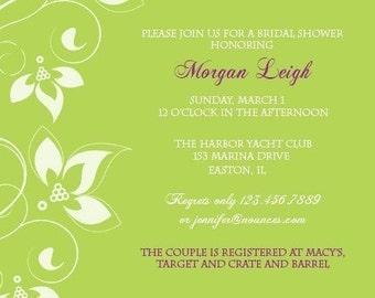 Custom Floral Invitation