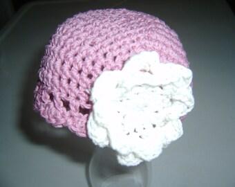 Baby Crocheted Cloche  Newborn to 3 months Made in Maine