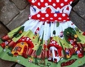 Gnomeville Garden Twirl Toddler Dress etsykids team