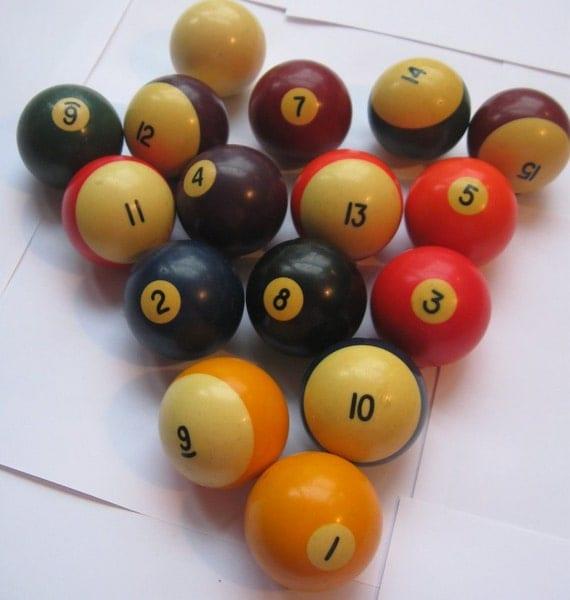Vintage Set Of Billiard Pool Balls By Hopeandjoyhome On Etsy