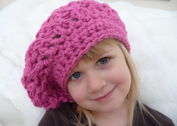 Crochet Slouchy Hat Pattern For Child : Crochet Pattern Slouchy Hat Child and Adult by myohmycutiepie
