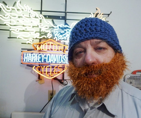READY TO SHIP Bearded Hat with Removable Beard