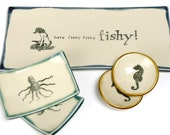 RESERVED: TimandShannon Here fishy fishy Sushi Set- Made to order