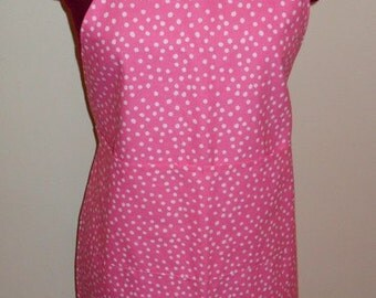 Adult Pink Polka Dot Apron