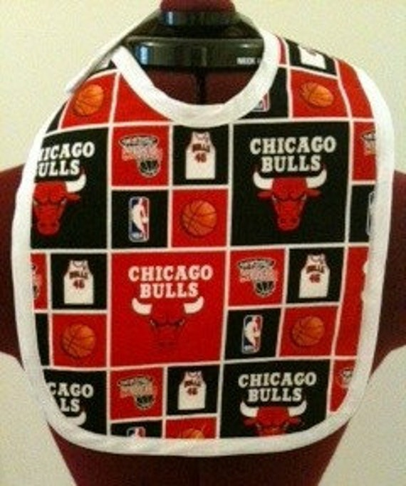 Chicago Bulls Theme Baby Bib