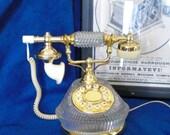 Vintage CALL ME 1970s Glass Princess Phone
