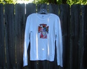 Unique Cross Adult Women's Tee-Long sleeved white