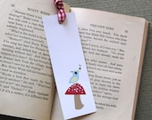 Birds and Mushrooms - Printable Bookmarks PDF