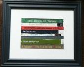 NUMBER Themed Framed Wall Art/Decor , Recycled Vintage Book Bindings Framed