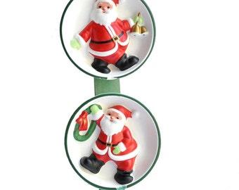 Vintage-Lenox-Santa Claus-Christmas Ornament-Wall-Door-Hanging