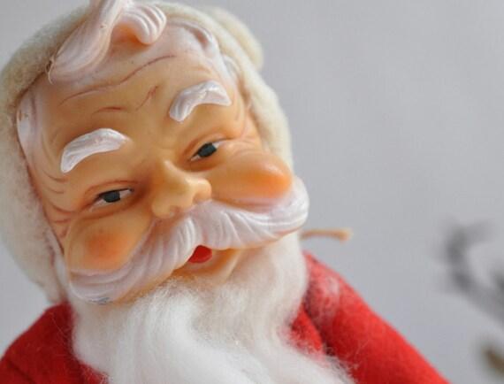 Vintage Christmas Santa Claus-Red-White-Free Shipping