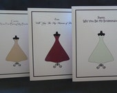 Personalized Bridesmaid Card-Custom Colors Offered Free of Charge
