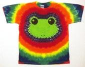 Rainbow Tie Dye Shirt - Lime Green Tree Frog Tie Dye TShirt - Youth XL