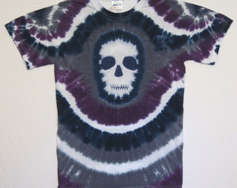 Ghostly Skull Tie Dye Shirt Adult Small