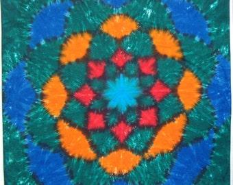 Lotus Flower Mandala Tie Dye Tapestry