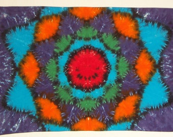 Smiling Flower Tie Dye Tapestry