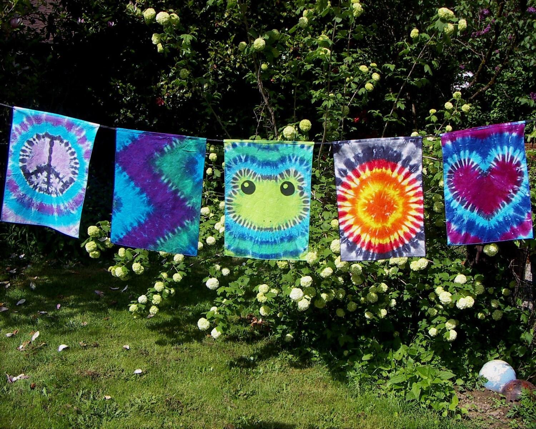 tie dye flags tie dye banner