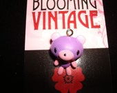 Harajuku Lolita Love Gloomy Light Lavender Purple Bear pendant