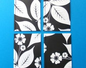 PIF Black and White Leaves Notebook Set of 4