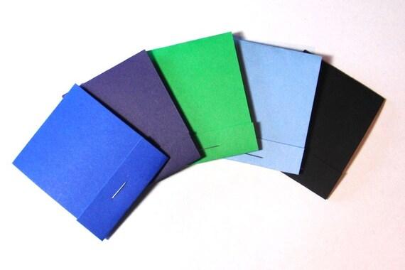 PIF Journal Forgotten Forest Matchbook sized Mini Notebooks Set of 5