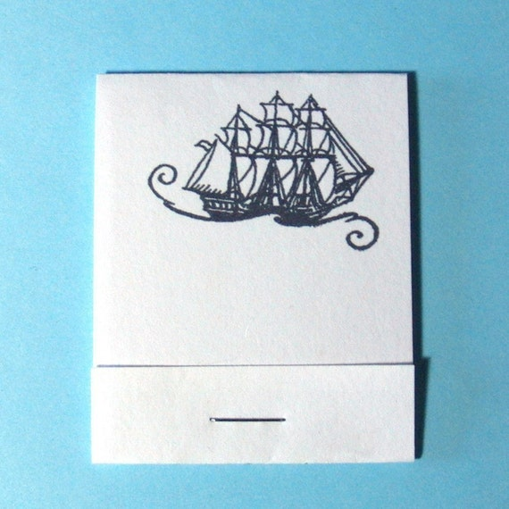 PIF Pirate Ship Matchbook sized Mini Notebooks Set of 4